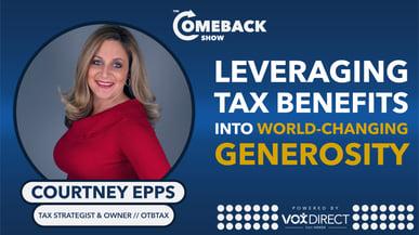 Leveraging Tax Benefits into World-changing Generosity